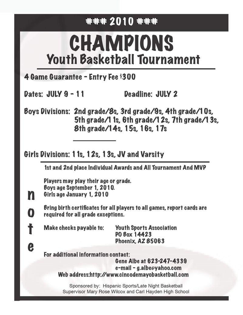 Junior Hoops Arizona: Youth Basketball Association ...
