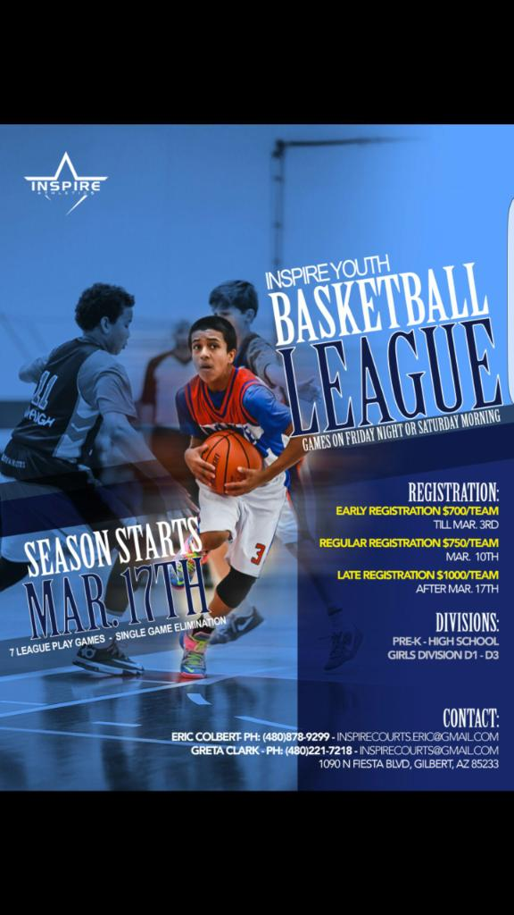 Junior Hoops Arizona Inspire Youth Basketball League Pre K High