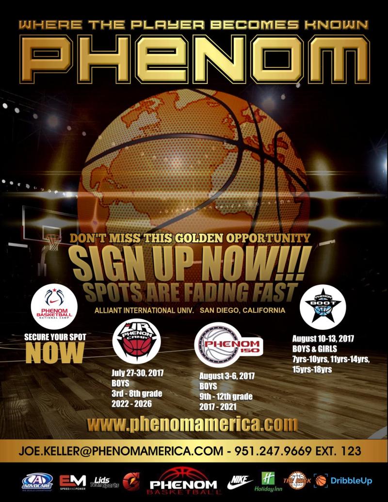 2017 JULY Phenom Basketball