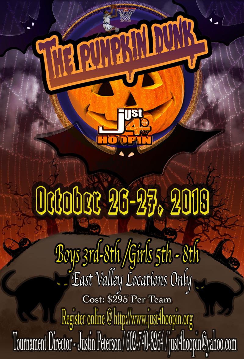 2018 OCT Pumpkin Dunk Flyer