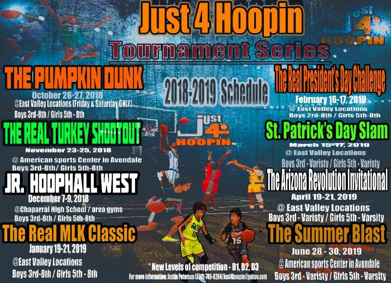 2019 Just4hoopin Tournament schedule